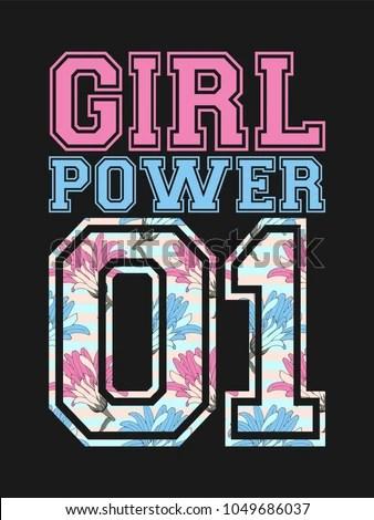 Download Vector Female Poster Girl Power Cute Stock Vector ...