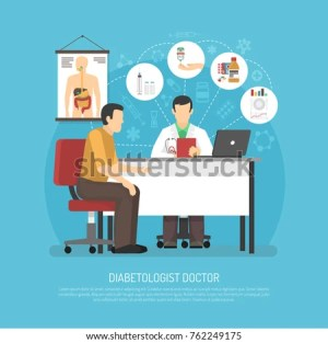 Diabetes Treatment Vector Illustration Patient Doctors Stock Vector 522557893  Shutterstock