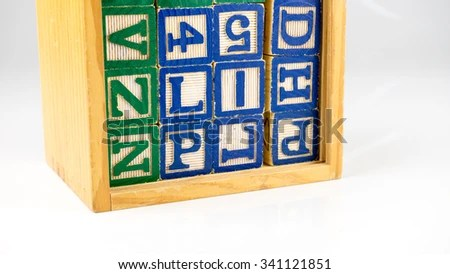 Cute Colorful Wooden Alphabet Letter Set Stock Photo ...