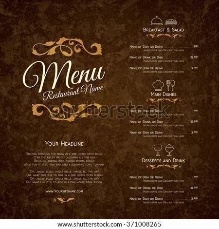 Restaurant Menu Stock Images Royalty Free Images