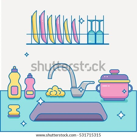 Clean Kitchen Sink Clipart Wwwpixsharkcom Images