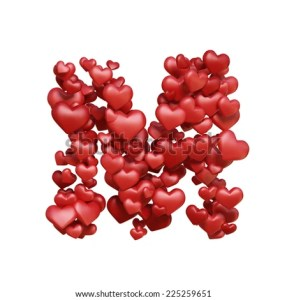 S And M Letters In Heart LOADTVE The Nature Of Grace Lesson Theme Valentine Day Hot Selling Shaped Personalized