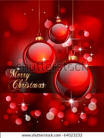 Merry Christmas Elegant Suggestive Background Greetings