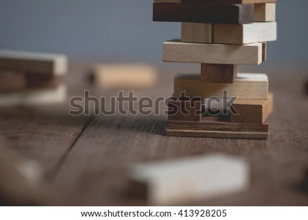 Wooden Game Block Abstract Bokeh Stock Photo 228157345 ...