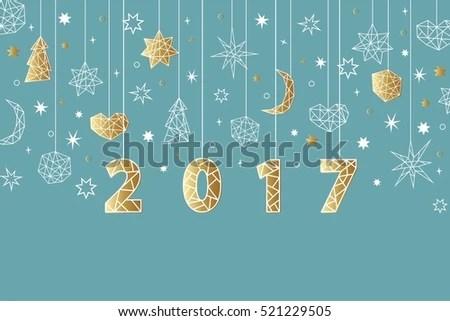 moon star new year border