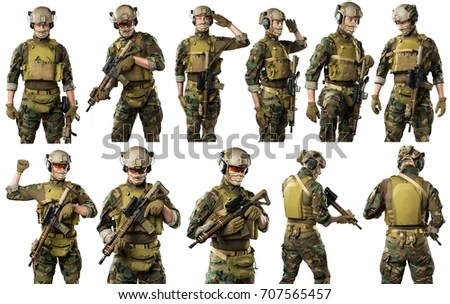 Us Marine Corps Sol R Rifle Shot Stock Photo