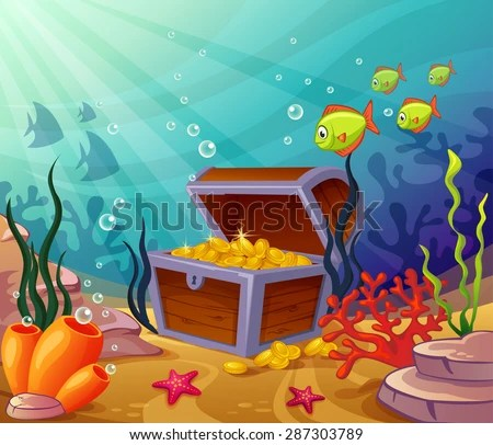 Cartoon Treasure Chest Vector Stock Photos Images