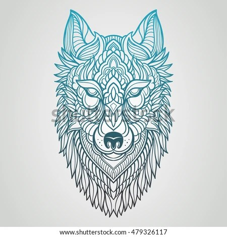 Abstract Wolf Hand Draw Stock Vector 479326117 Shutterstock