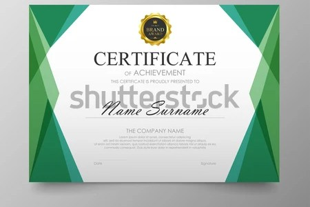 Vector illustration in rank M rank  Certificate template awards     Certificate template awards diploma background vector modern value design  and luxurious elegant Illustration layout cover