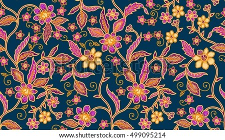 Seamless Batik Patternable Repeat Textile Printing Stock Illustration 499095214 Shutterstock