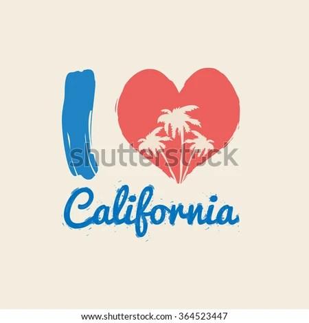 Download Vector Illustration On Theme California Love Stock Vector ...