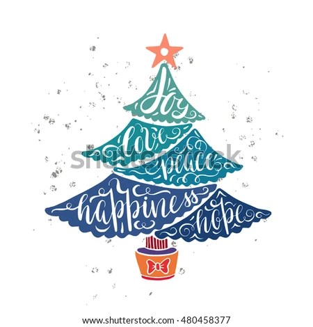 Download Christmas Tree Greeting Card Design Wishes Stock Vector ...