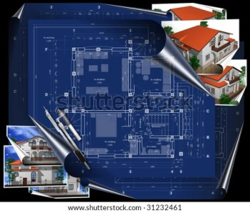Blueprint House Project Stock Illustration 31232461   Shutterstock blueprint of house project