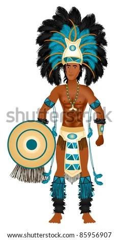 Aztec Warrior Stock Photos Images Amp Pictures Shutterstock