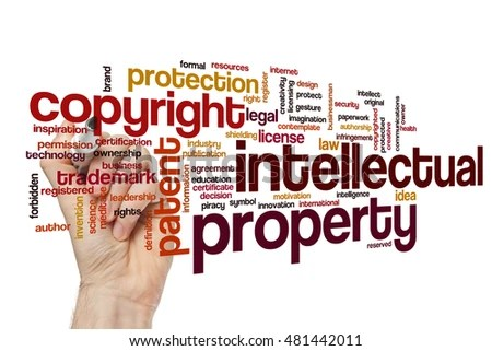 Intellectual property word cloud concept