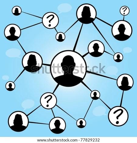 social media stock vector