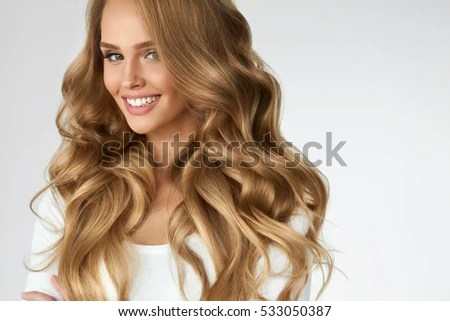 beautiful curly hair smiling girl healthy stock photo shutterstock