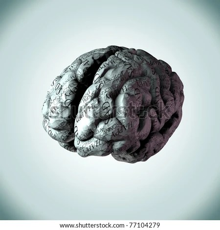 Creative Concept Human Brain Anaglyph View Stock ...