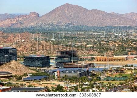 Tempe Arizona Usaoctober 27 2015 Aerial Stock Photo ...