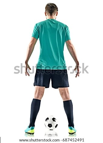 Two Men Soccer Player Playing Football Stock Photo ...