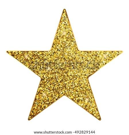 Vector Illustration Gold Star Stock Vector 492829144