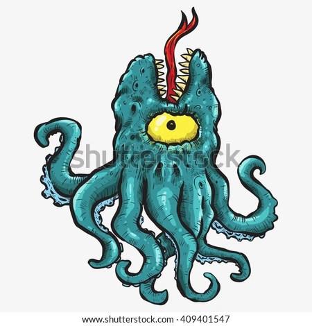 Afbeeldingsresultaat voor octopus monster
