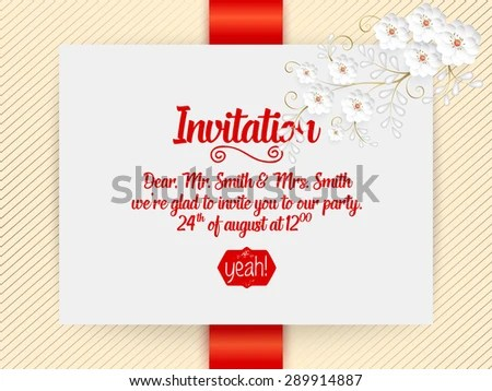 Wedding Invitation Card Vector Invitation Card Stock