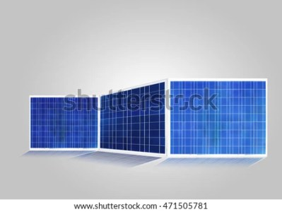 Solar Cell Isolated On Gray Silicon Stock Photo  Royalty Free     solar cell isolated on gray  silicon photovoltaic cell transverse light  energy to electricity