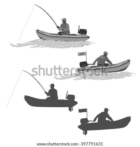 Head Coach Club Fishermen Rides On Stock Vector 434625706