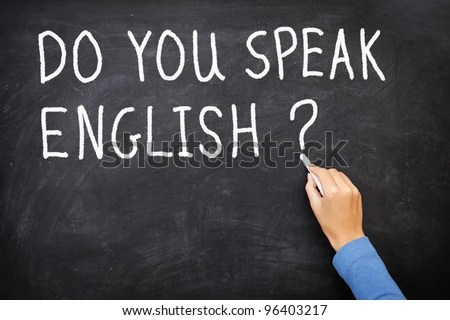 Learning Language English Blackboard Education Concept ...