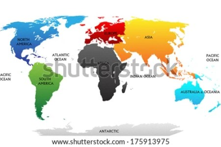 World map highlighting europe full hd maps locations another red europe map and satellite image political map of europe flat world map images stock photos vectors shutterstock europe continent blue marked in grey gumiabroncs Gallery