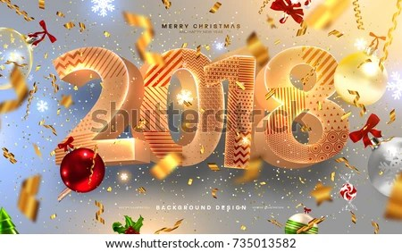 happy new year 2018 email template