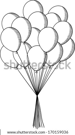 Flying Balloon Outline Stock Images Royalty Free Images