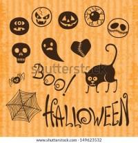 happy halloween text emoticons