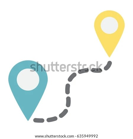 Distance Flat Icon Navigation Route Map Stock Vector 635949992     Distance flat icon  navigation and route  map pointer vector graphics  a  colorful solid