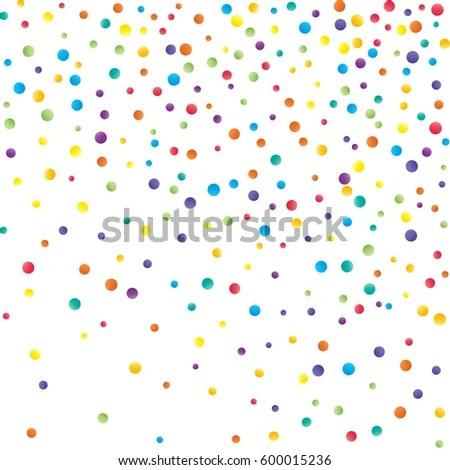 Round Confetti Small Circles Falling Stock Vector