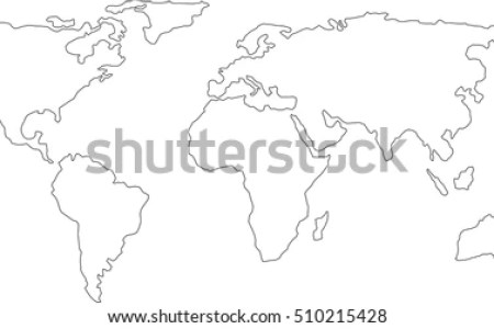 Interior europe map outline full hd maps locations another world world map outline graphic freehand drawing stock vector royalty world map outline graphic freehand drawing on white background vector of asia europe world freerunsca Image collections