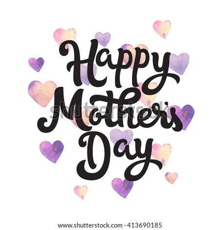 Happy Mothers Day Card Mothers Day Stock Vector 413690185 ...