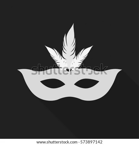 Carnival Mask Set Theatrical Masquerade Masks Stock Vector ...