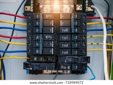 Circuit Board Connection Electric System Cabinet Building Stock     Electric system in cabinet building system The circuit new breakers in