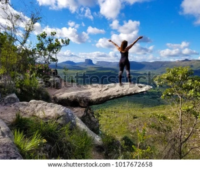 Free Happy Woman Enjoying Nature In Chapada Diamantina Bahia Brazil
