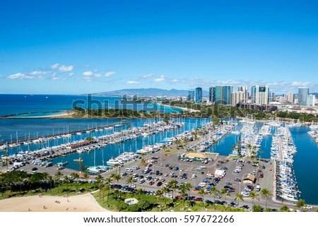 Miami Beach Ocean Drive Aerial Lummus Stock Photo