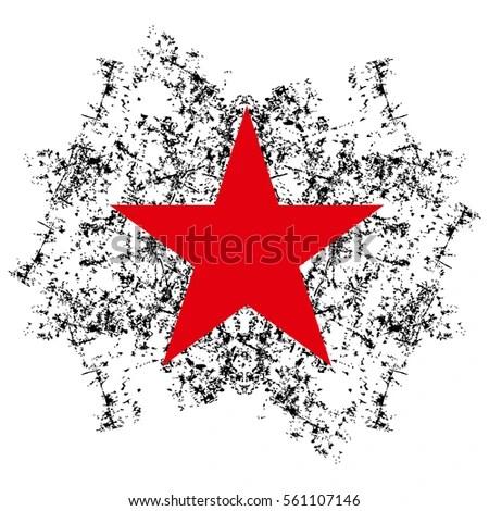 Red Star Spray Graffiti Ink Vector Stock Vector 52362670 ...