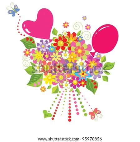 balloon flower stock vectors vector clip art shutterstock