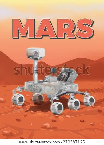 Mars Exploration Rover On Surface Stock Illustration
