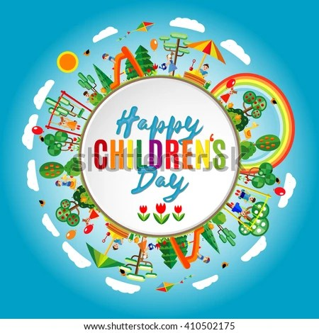 Happy Childrens Day Background Vector Illustration Stock ...