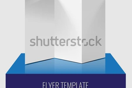 Blank Trifold Paper Brochure Flyer Realistic Stock Vector 469108502     Blank trifold paper brochure or flyer realistic template with shadows and  lighting effect on a 3d