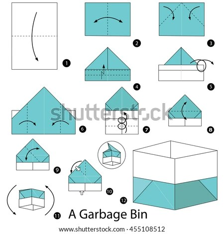 Step By Origami Box Origami Tutorial Lets Make It