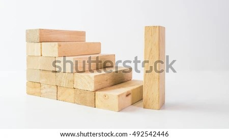Cube Puzzle Wooden Blocks Isolated On Stock Photo ...