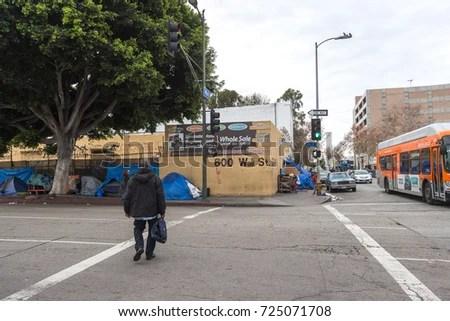 LOS ANGELES USA JAN 02 2017 Stock Photo (Royalty Free ...